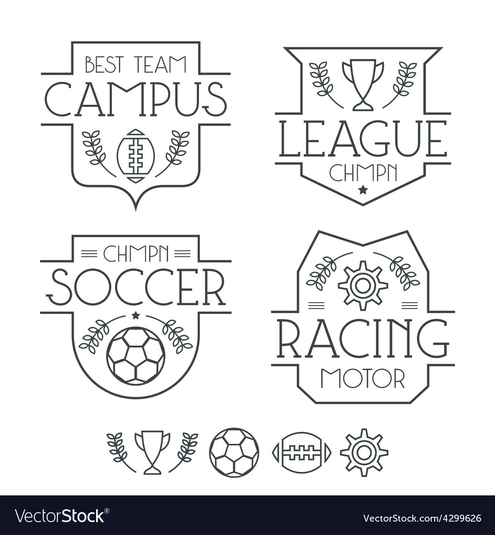 Sport badges and icons vector | Price: 1 Credit (USD $1)