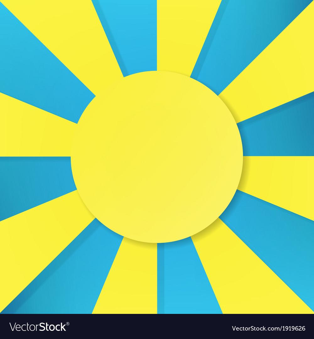 Sun symbol on blue background vector | Price: 1 Credit (USD $1)