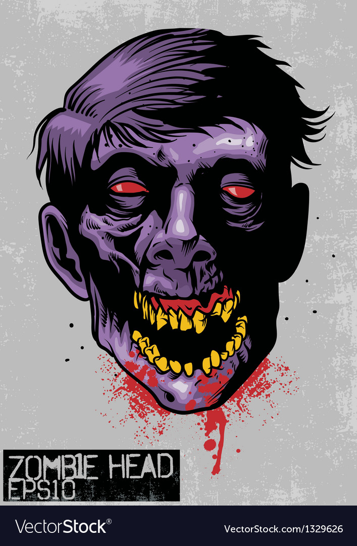Zombie head vector | Price: 3 Credit (USD $3)