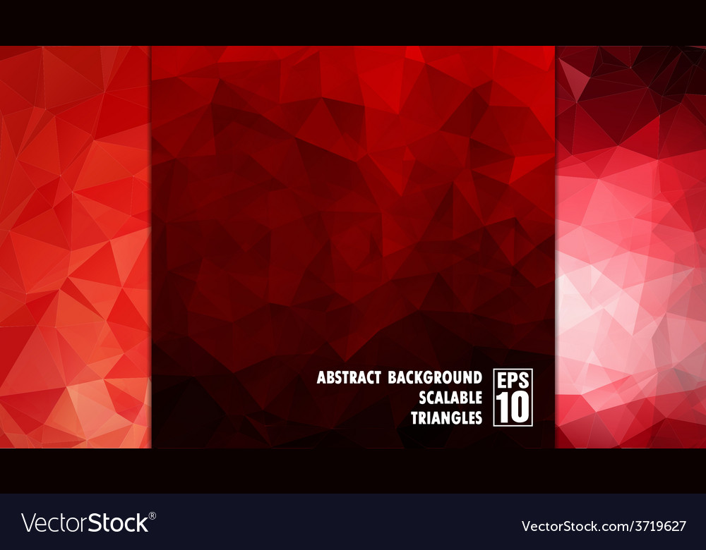 Abstract geometric background of triangles in red vector | Price: 1 Credit (USD $1)