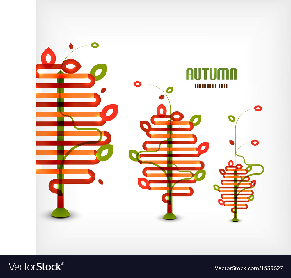 Autumn tree line art background vector   Price: 1 Credit (USD $1)