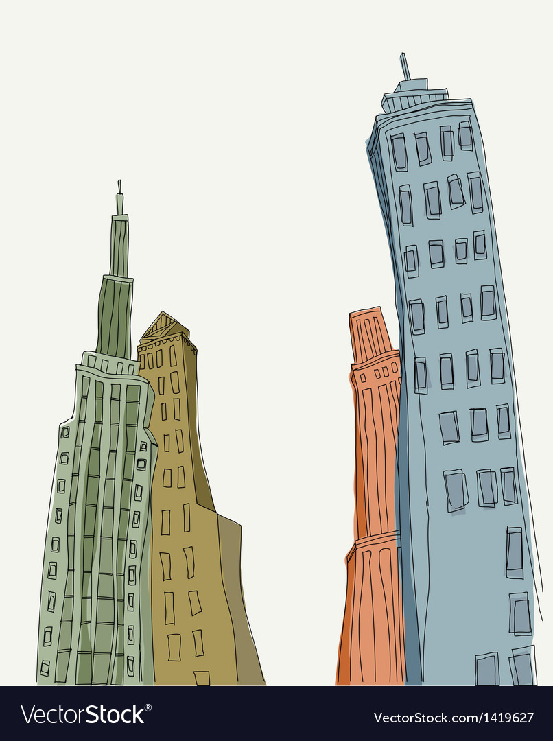 Creative skyscraper towers vector | Price: 1 Credit (USD $1)