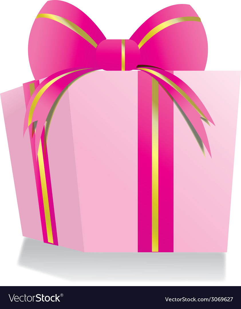 Giftbox pink vector | Price: 1 Credit (USD $1)