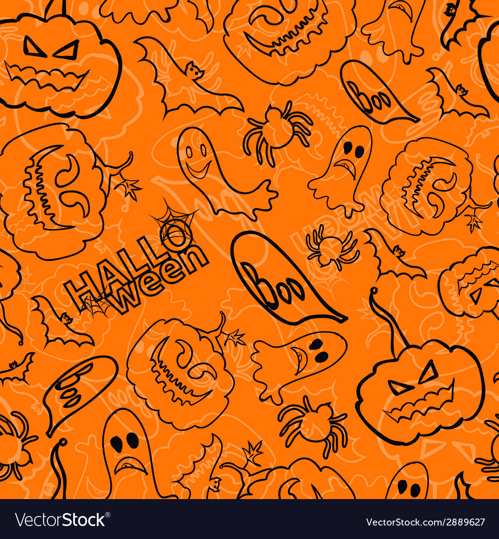 Halloween seamless background vector | Price: 1 Credit (USD $1)