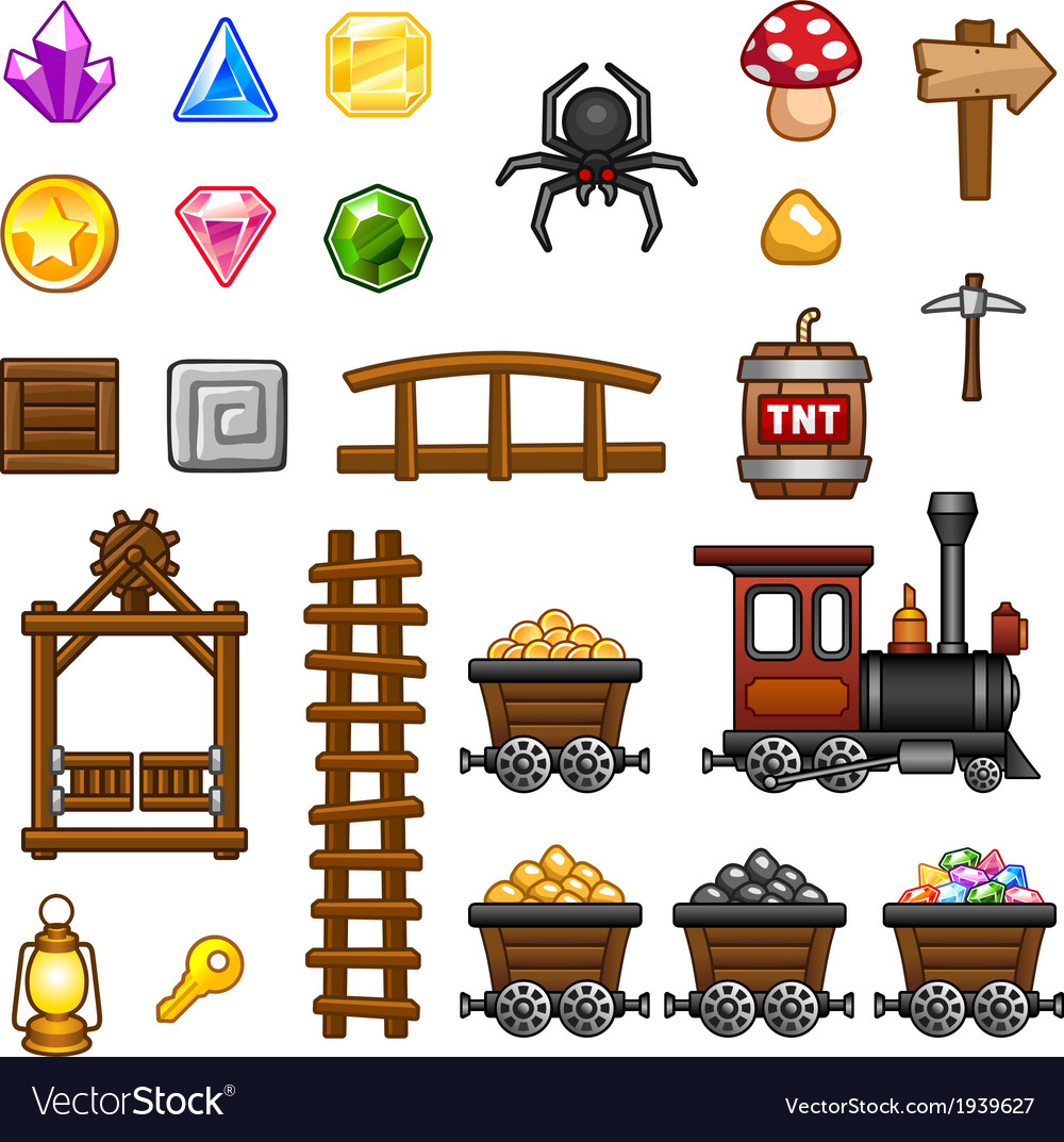 Mine assets 2 vector | Price: 1 Credit (USD $1)