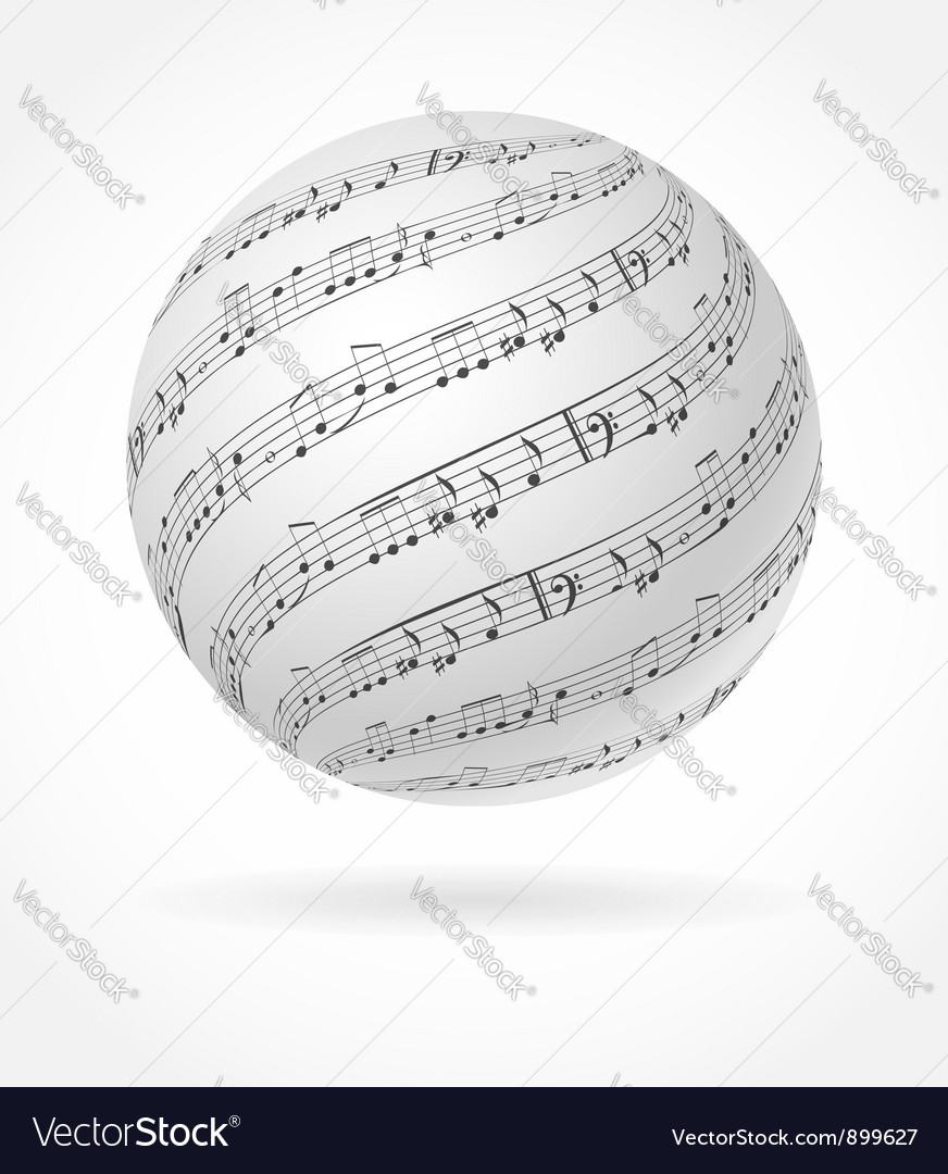 Music globe vector | Price: 1 Credit (USD $1)