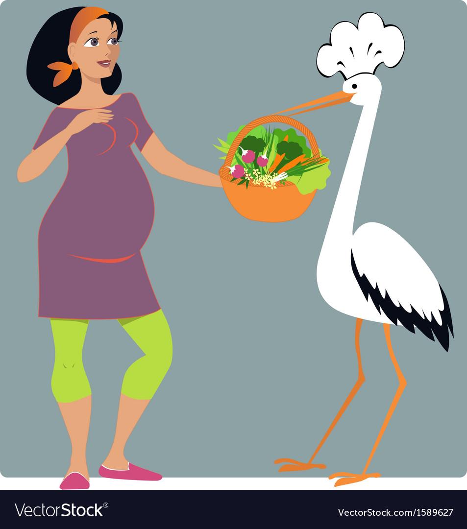 Pregnancy diet vector | Price: 1 Credit (USD $1)