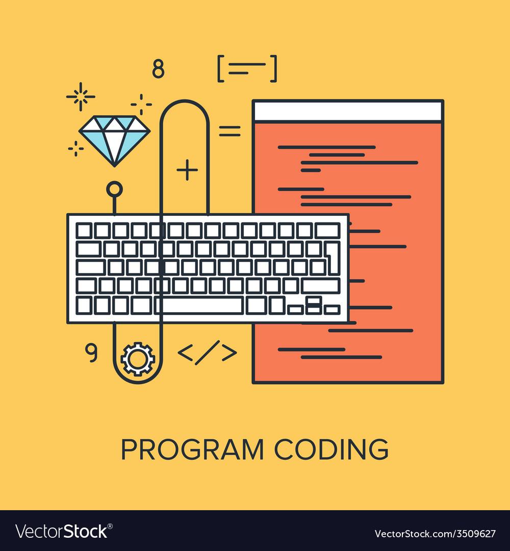 Program coding vector | Price: 1 Credit (USD $1)