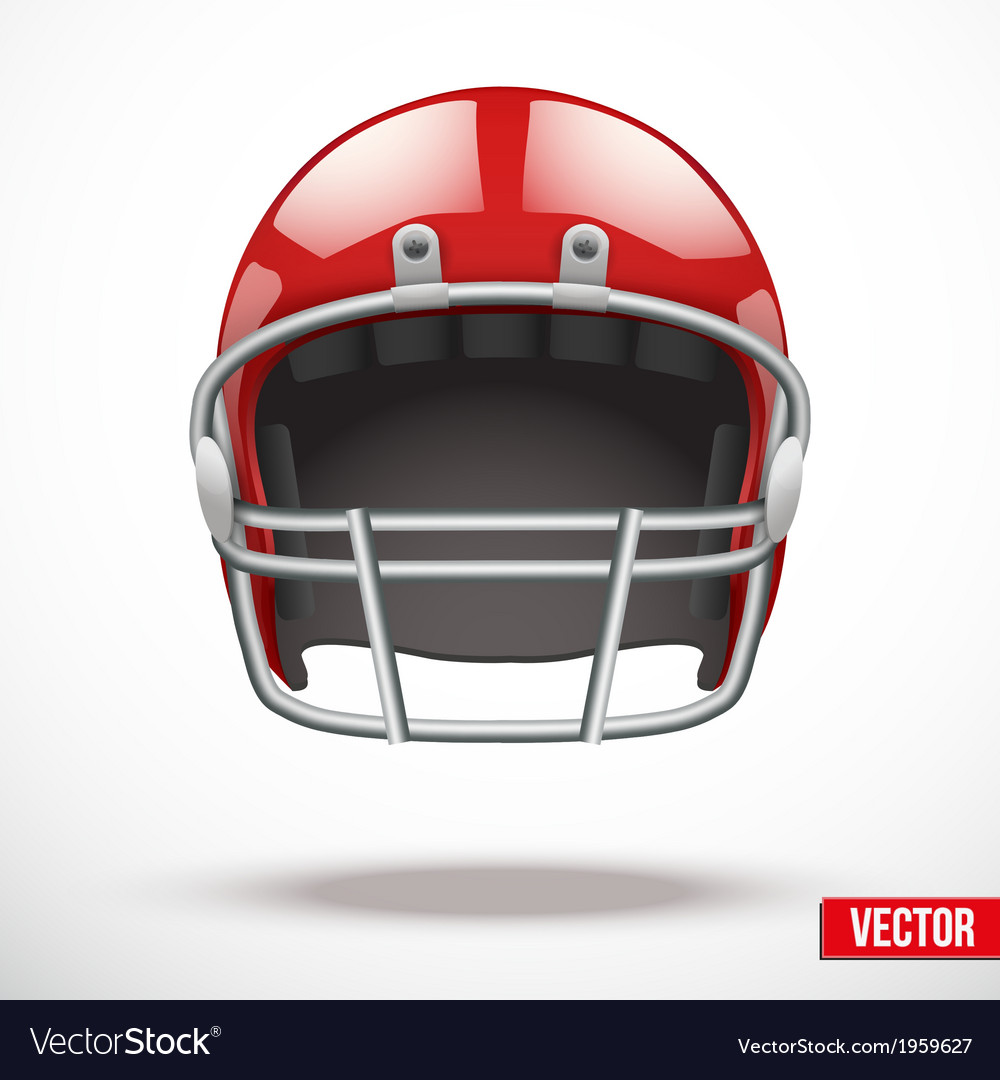 Realistic american football helmet vector | Price: 1 Credit (USD $1)