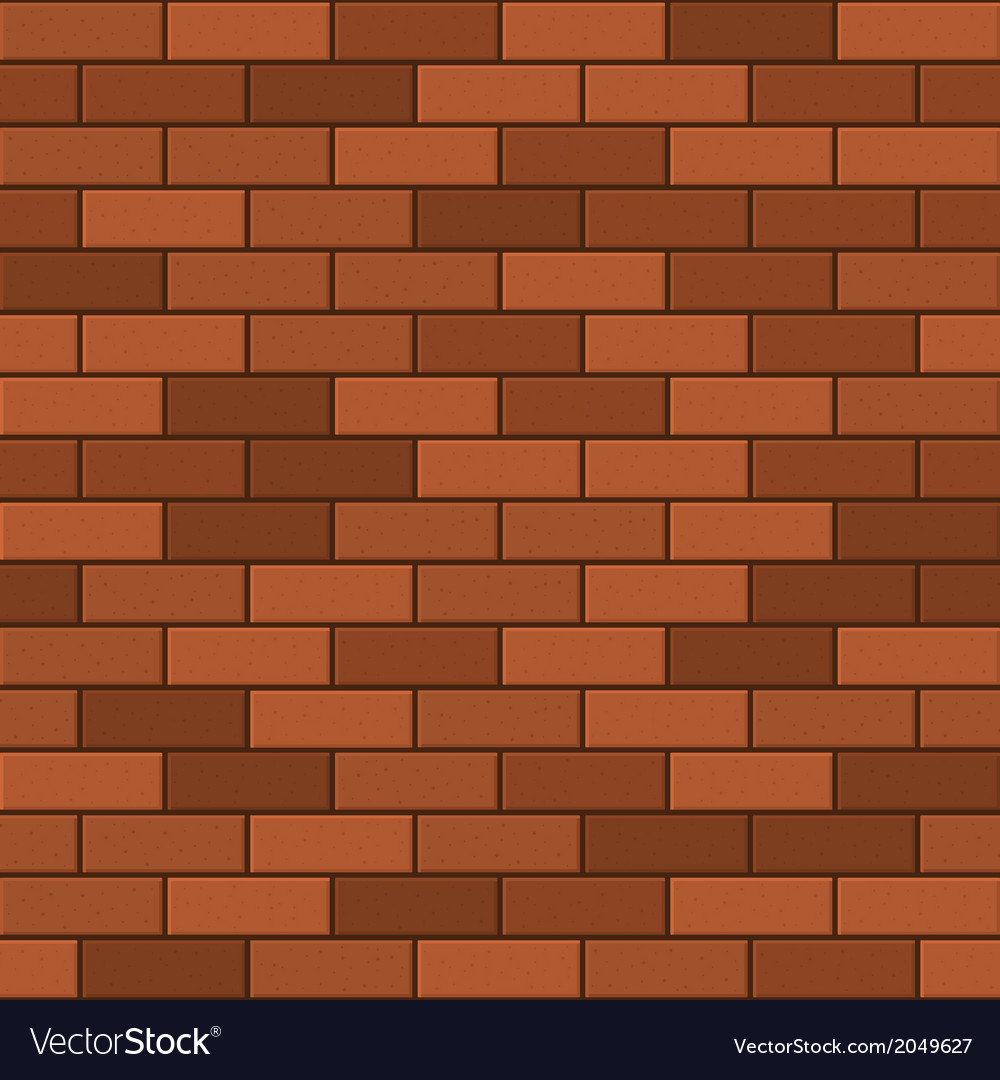 Seamless pattern of red brick vector | Price: 1 Credit (USD $1)