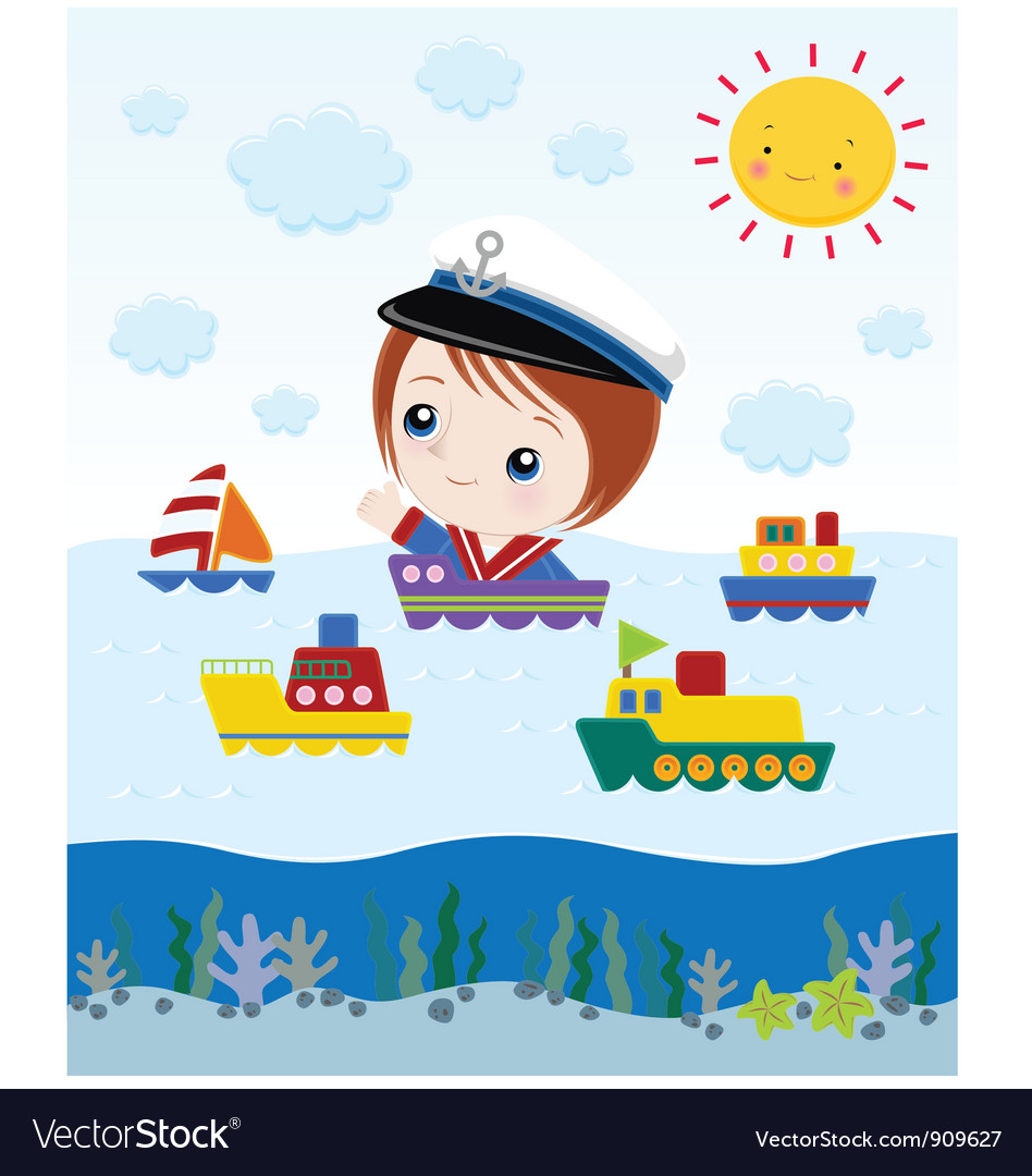 Ship cartoon vector | Price: 3 Credit (USD $3)