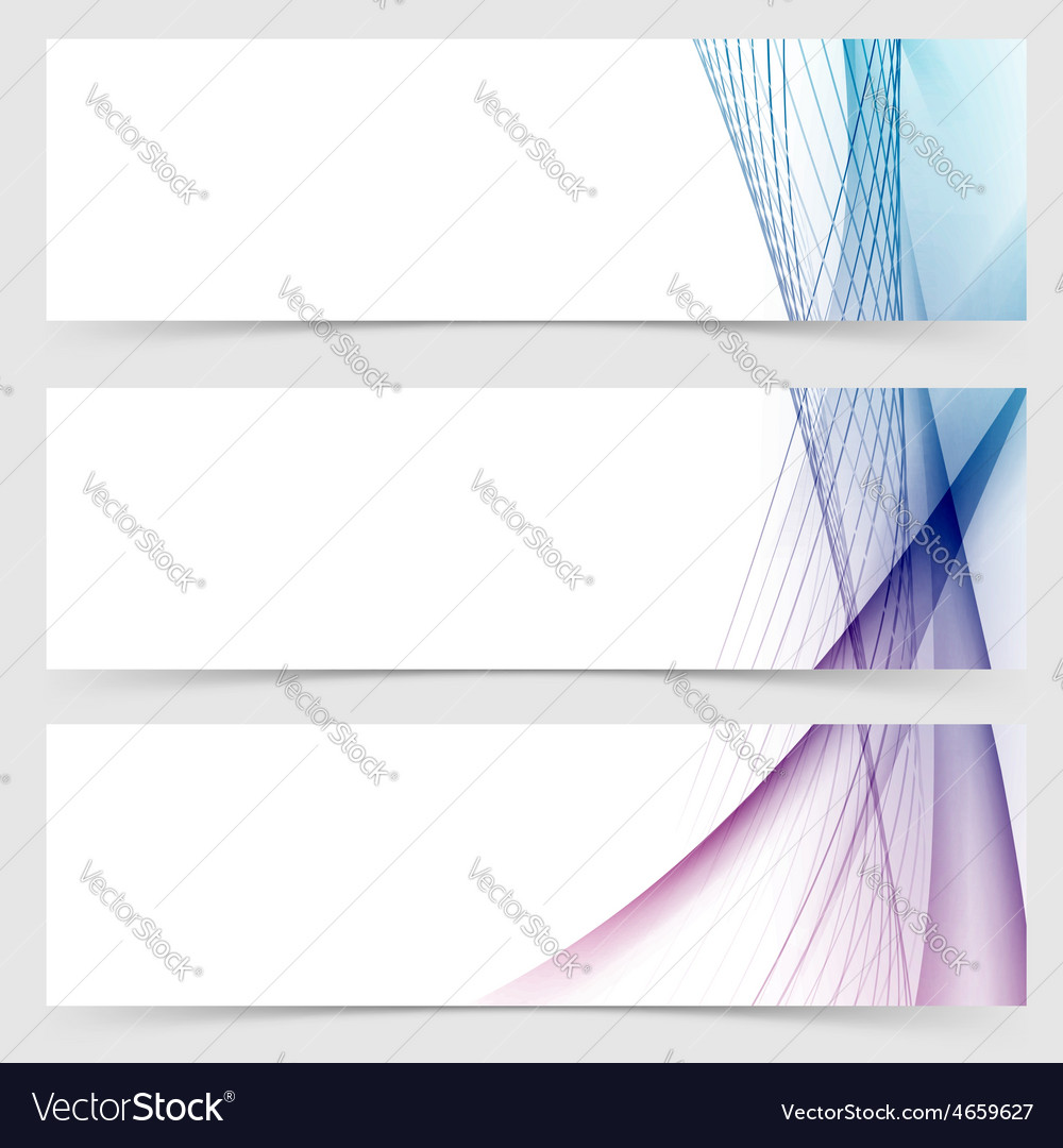 Smooth wave stream line abstract header layout vector | Price: 1 Credit (USD $1)