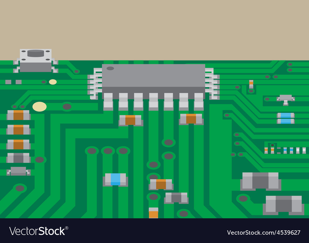 Surface mount technology printed circuit board vector | Price: 1 Credit (USD $1)