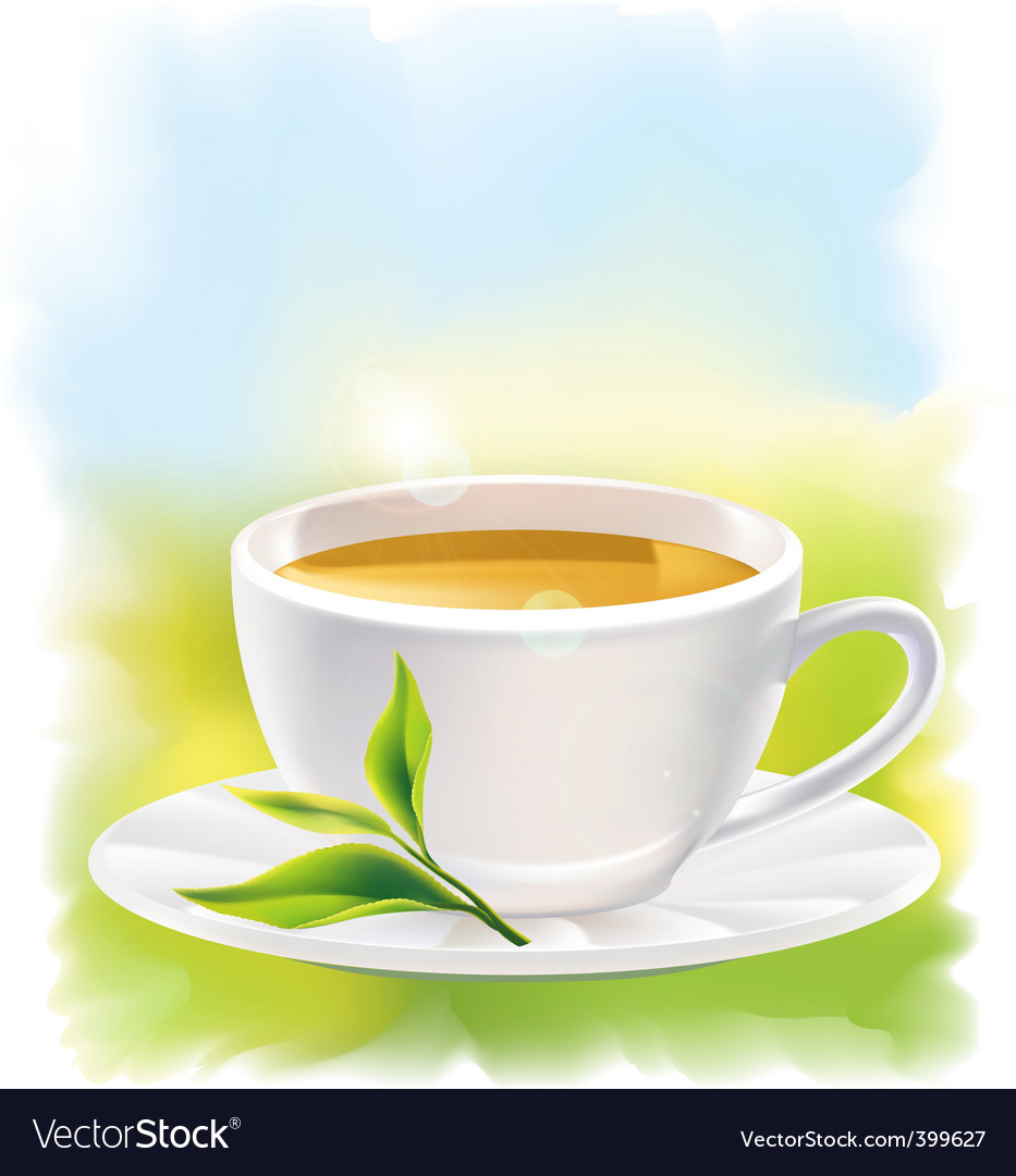 Tea cup vector | Price: 3 Credit (USD $3)