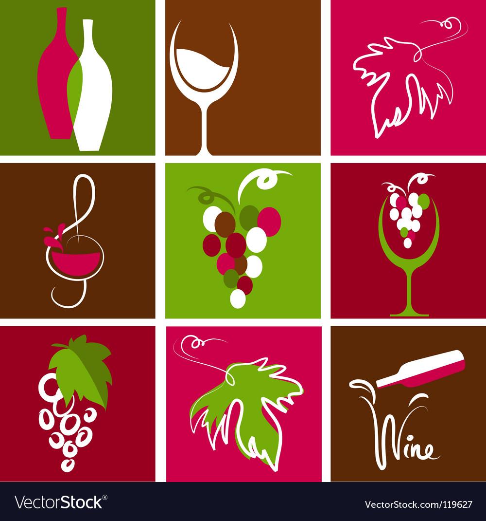 Wine icons vector   Price: 1 Credit (USD $1)