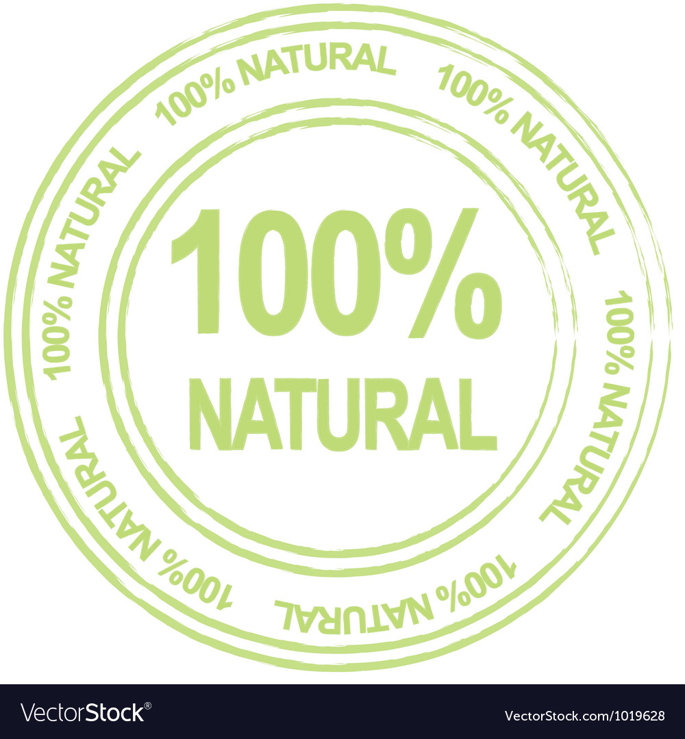 100 percent natural label vector | Price: 1 Credit (USD $1)
