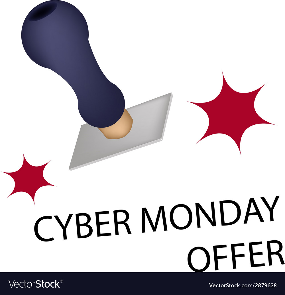 A rubber stamp with word cyber monday offer vector | Price: 1 Credit (USD $1)