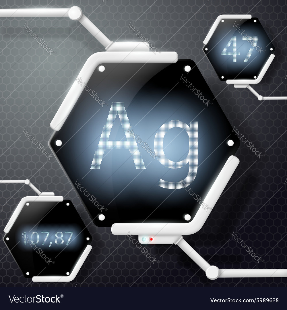 Chemical element silver vector | Price: 1 Credit (USD $1)