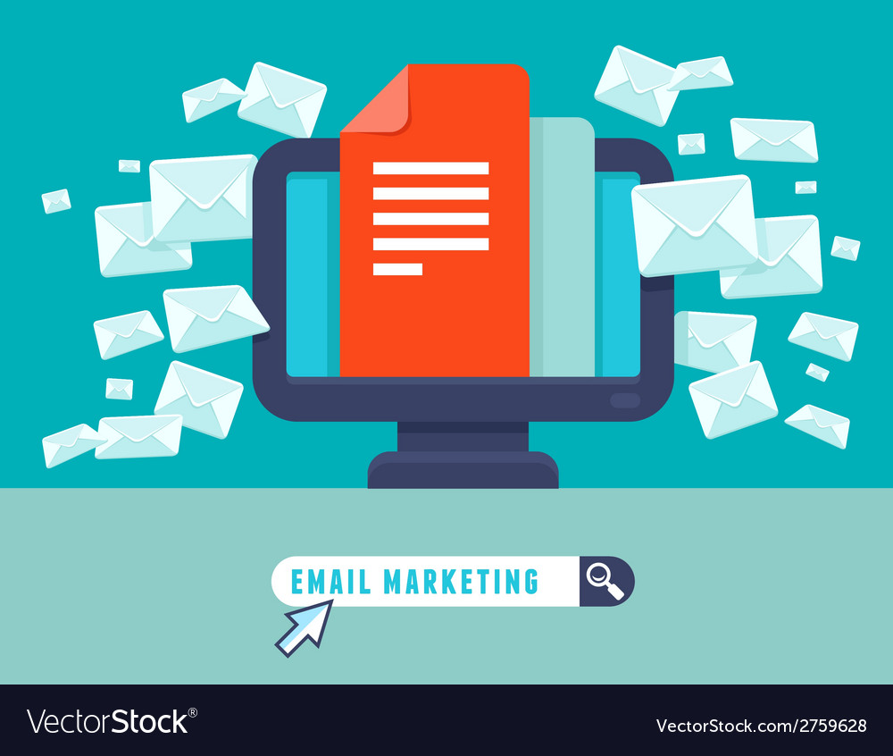 Email marketing concept vector | Price: 1 Credit (USD $1)