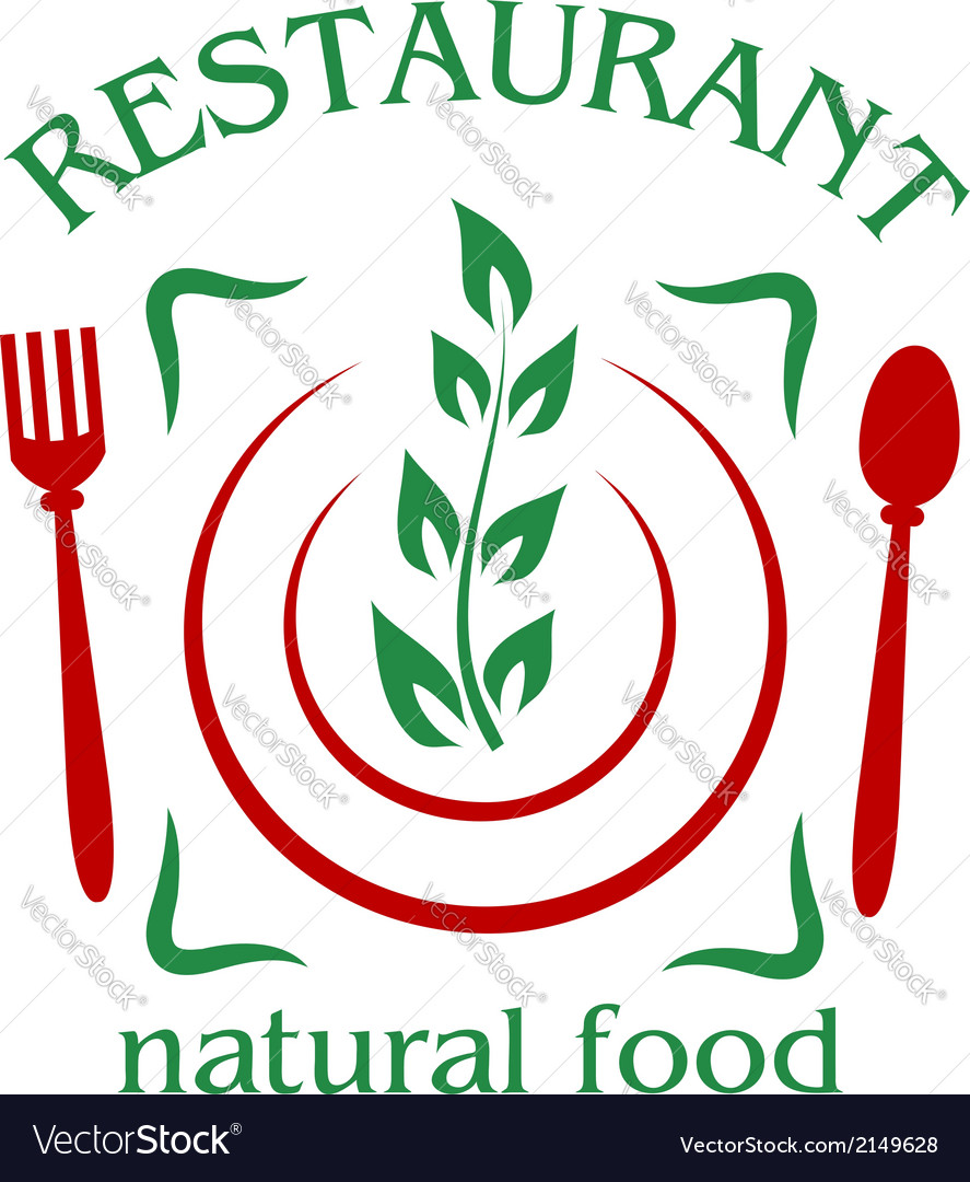 Natural food restaurant icon vector   Price: 1 Credit (USD $1)