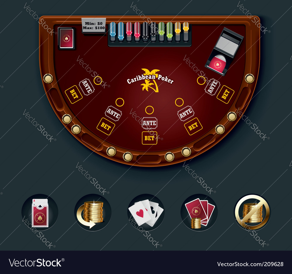 Poker table layout vector | Price: 3 Credit (USD $3)