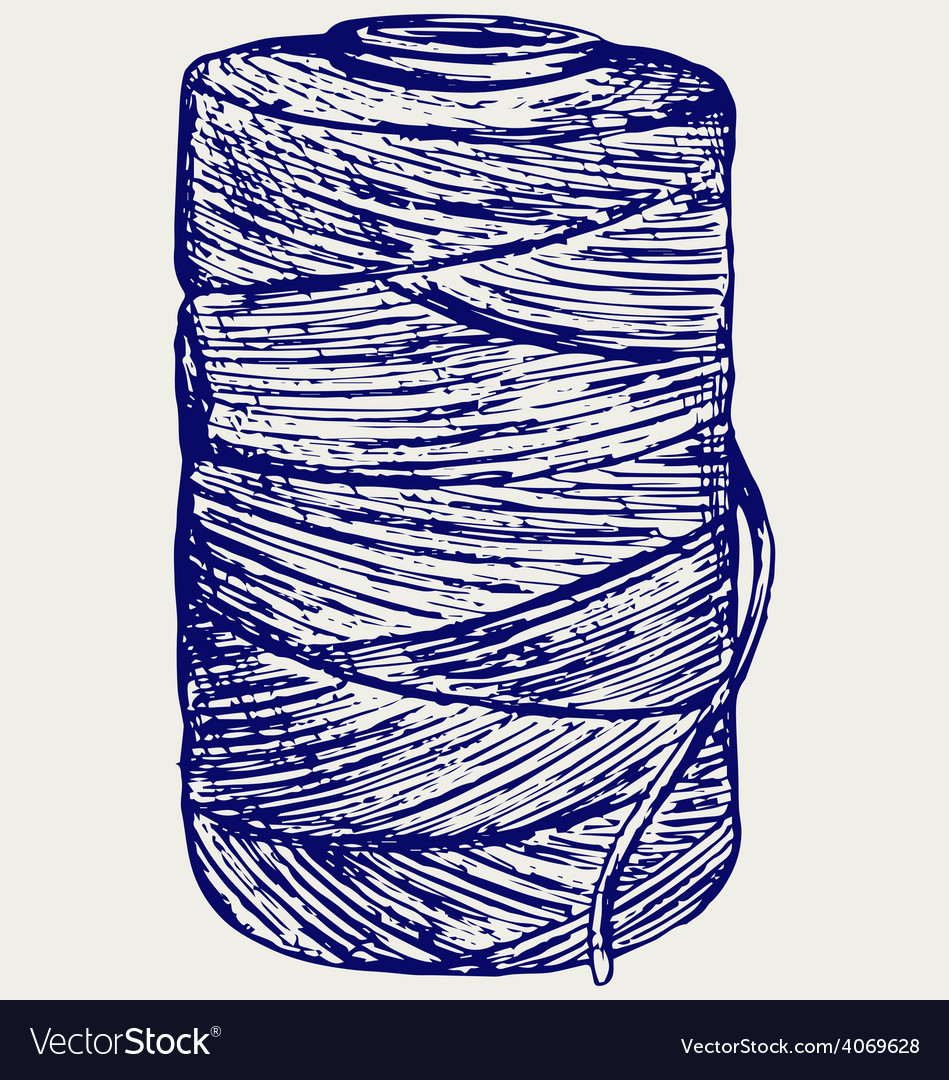 Roll of twine cord vector | Price: 1 Credit (USD $1)