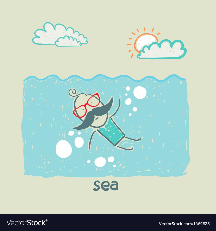 Sea vector | Price: 1 Credit (USD $1)