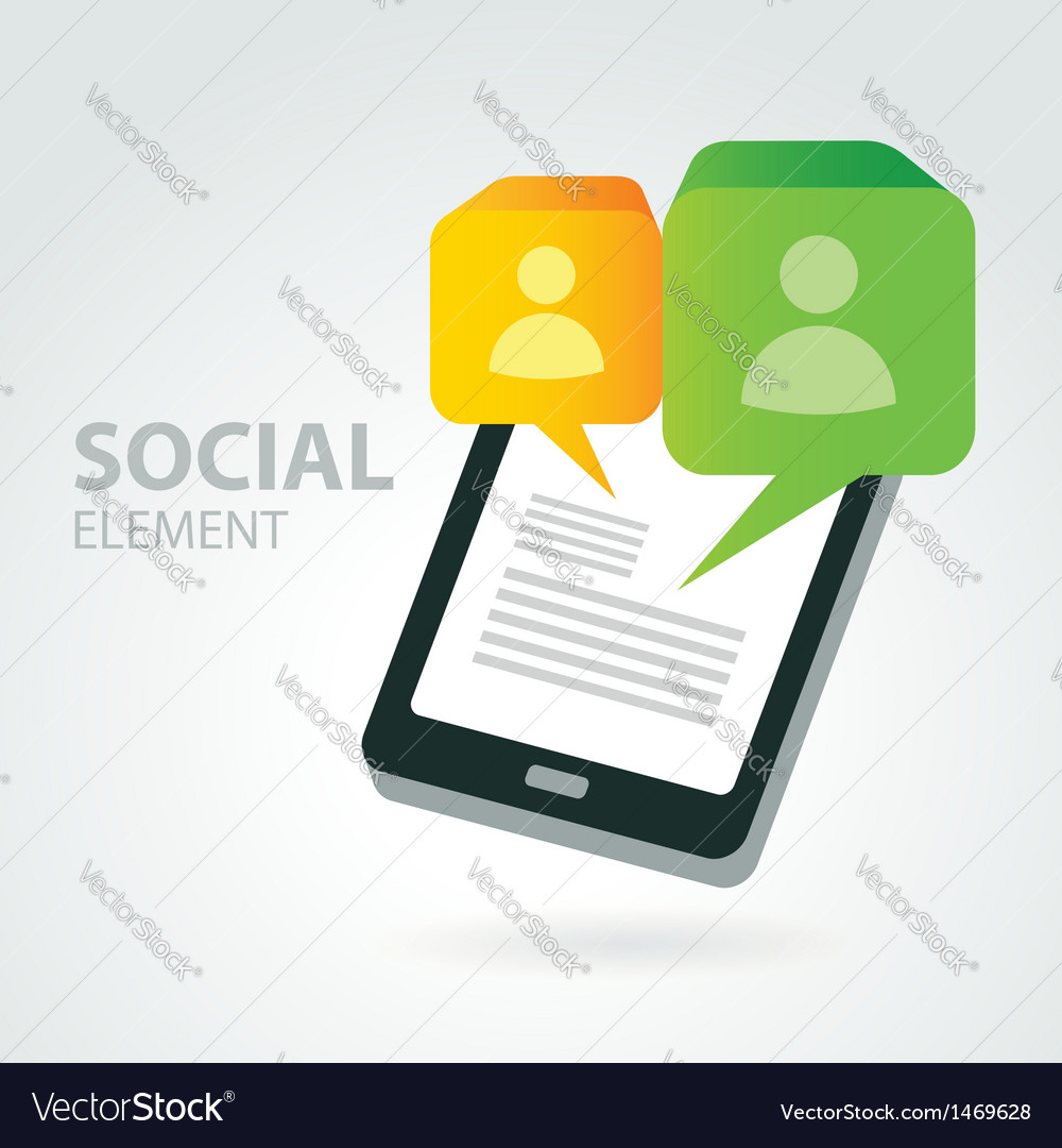 Social icon group element vector | Price: 1 Credit (USD $1)