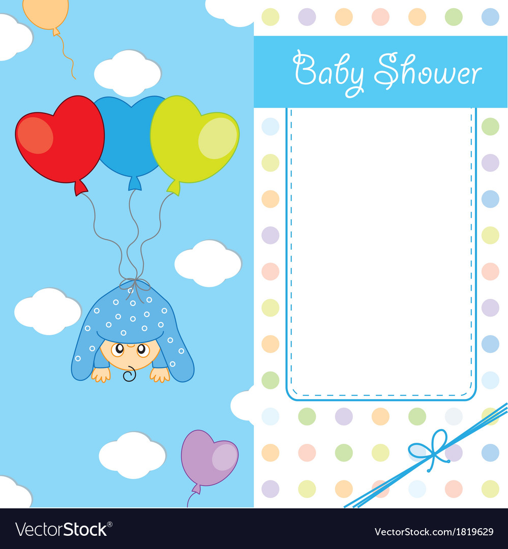 Baby boy birth card vector | Price: 1 Credit (USD $1)