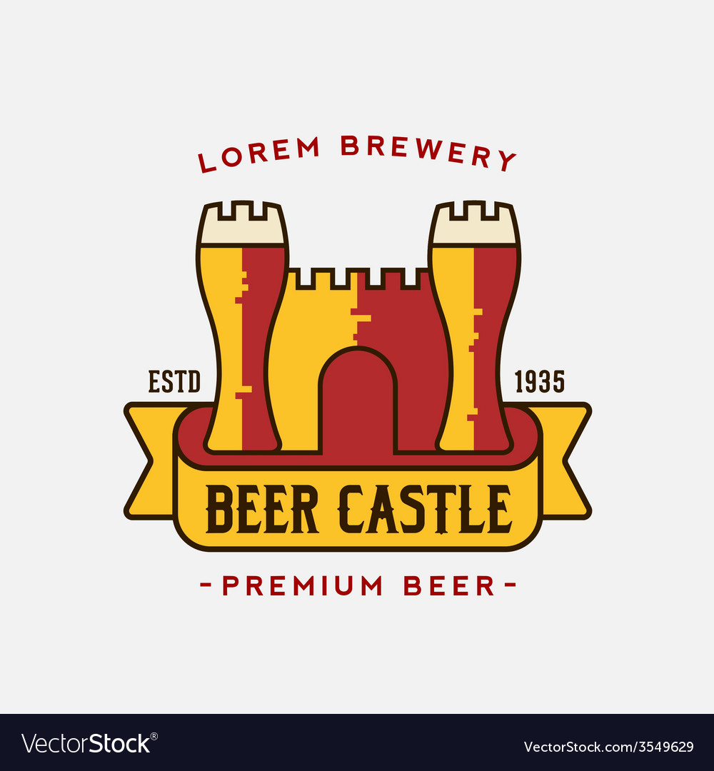 Beer castle logo template vector | Price: 1 Credit (USD $1)