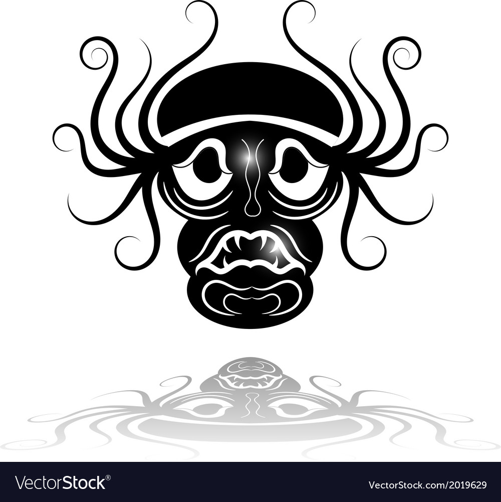 Black mask with reflection vector | Price: 1 Credit (USD $1)