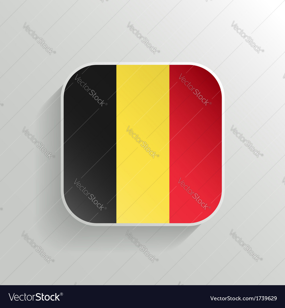 Button - belgium flag icon vector | Price: 1 Credit (USD $1)