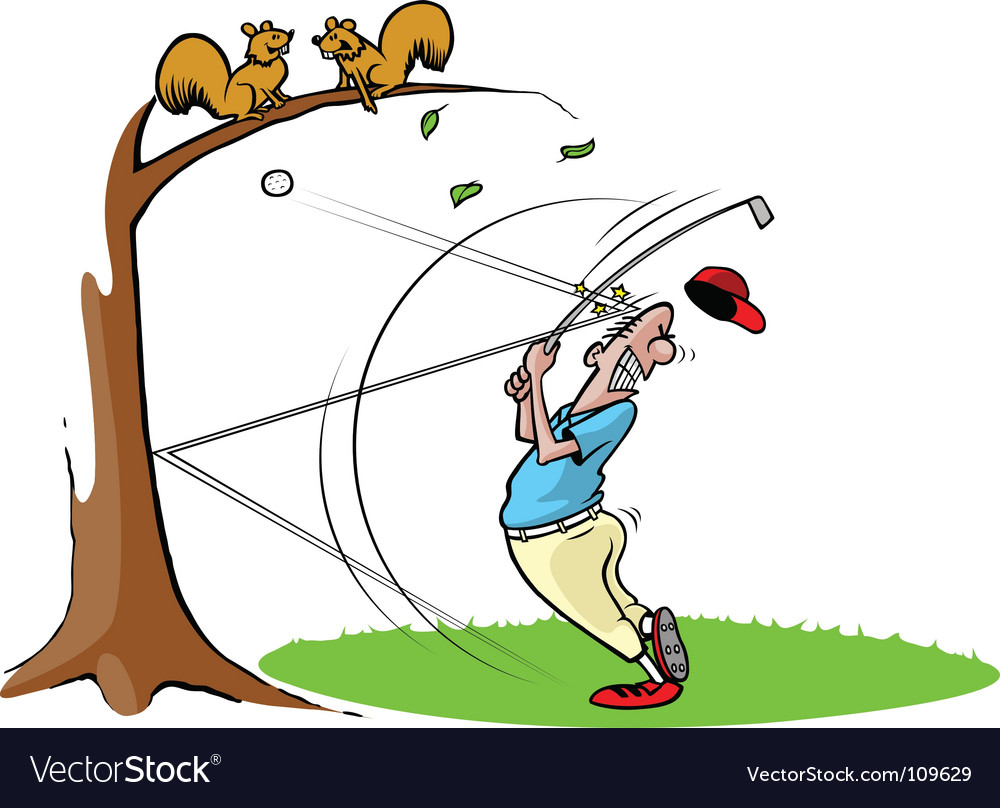 Cartoon golfer vector | Price: 1 Credit (USD $1)