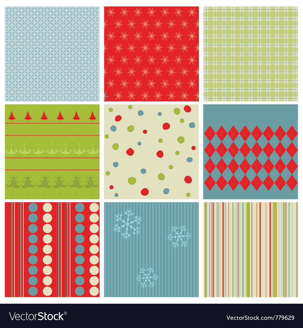 Christmas seamless backgrounds vector | Price: 1 Credit (USD $1)