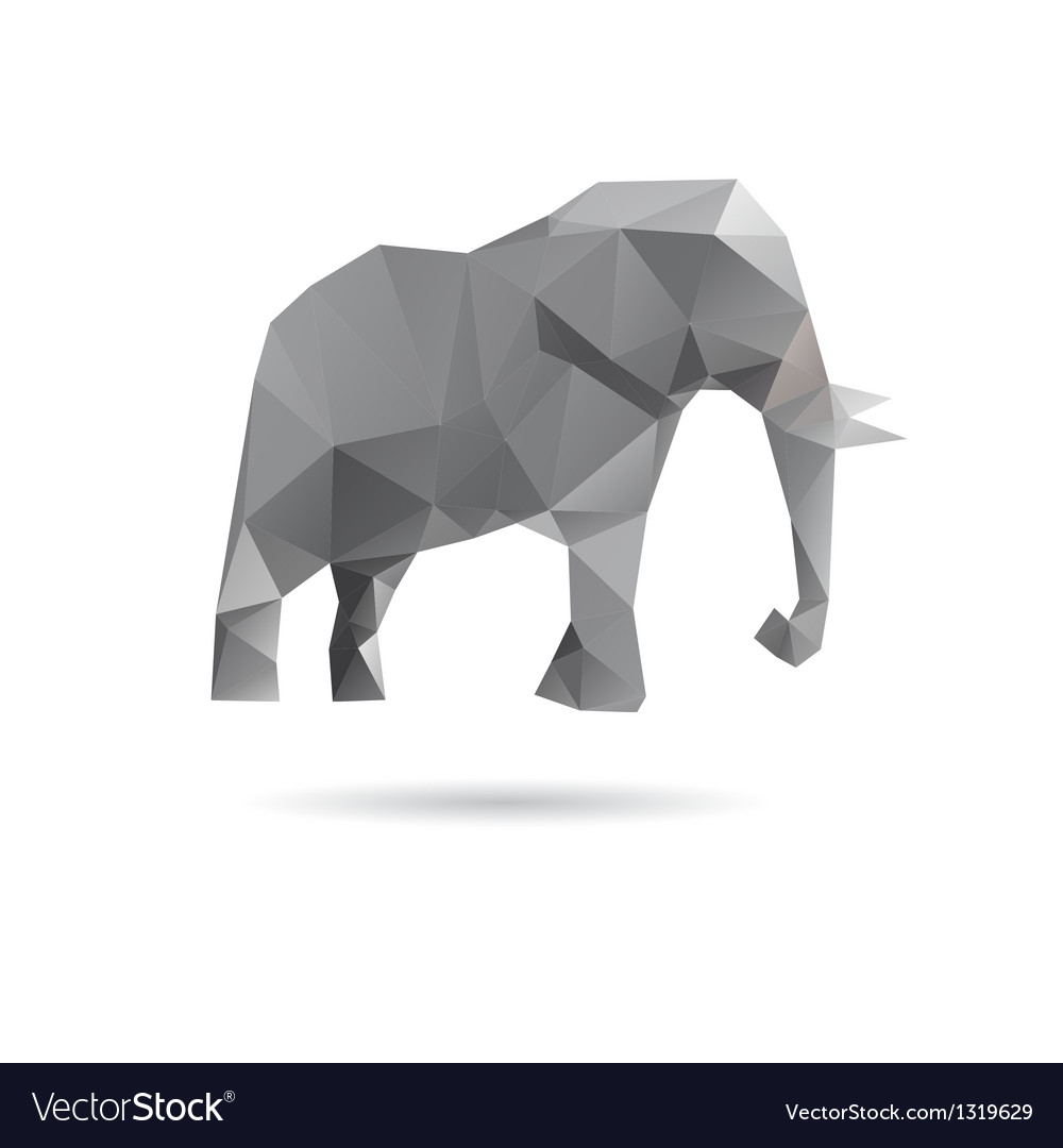 Elephant abstract isolated on a white backgrounds vector | Price: 1 Credit (USD $1)