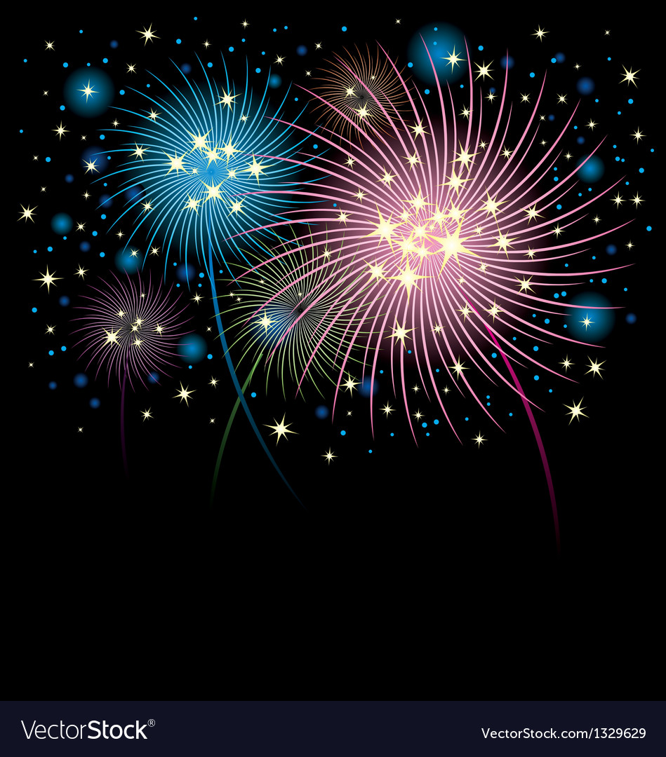 Fireworks background vector | Price: 1 Credit (USD $1)