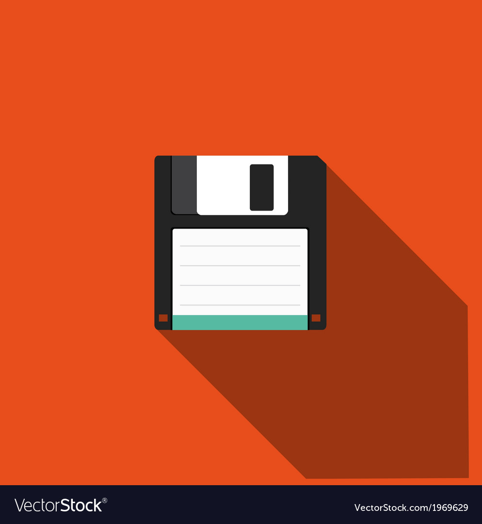 Floppy icon vector | Price: 1 Credit (USD $1)