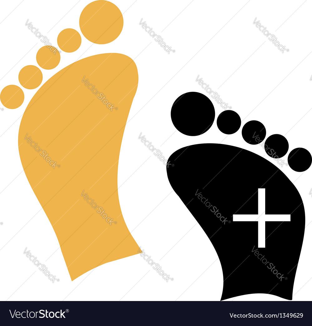 Foot care logo vector | Price: 1 Credit (USD $1)