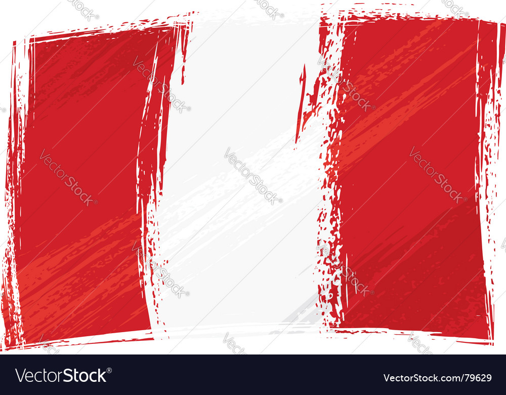 Grunge peru flag vector | Price: 1 Credit (USD $1)