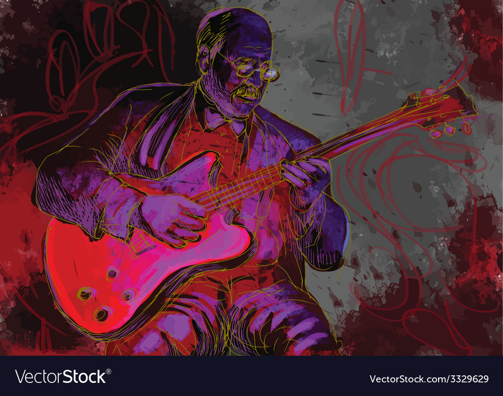 Guitar player vector | Price: 3 Credit (USD $3)