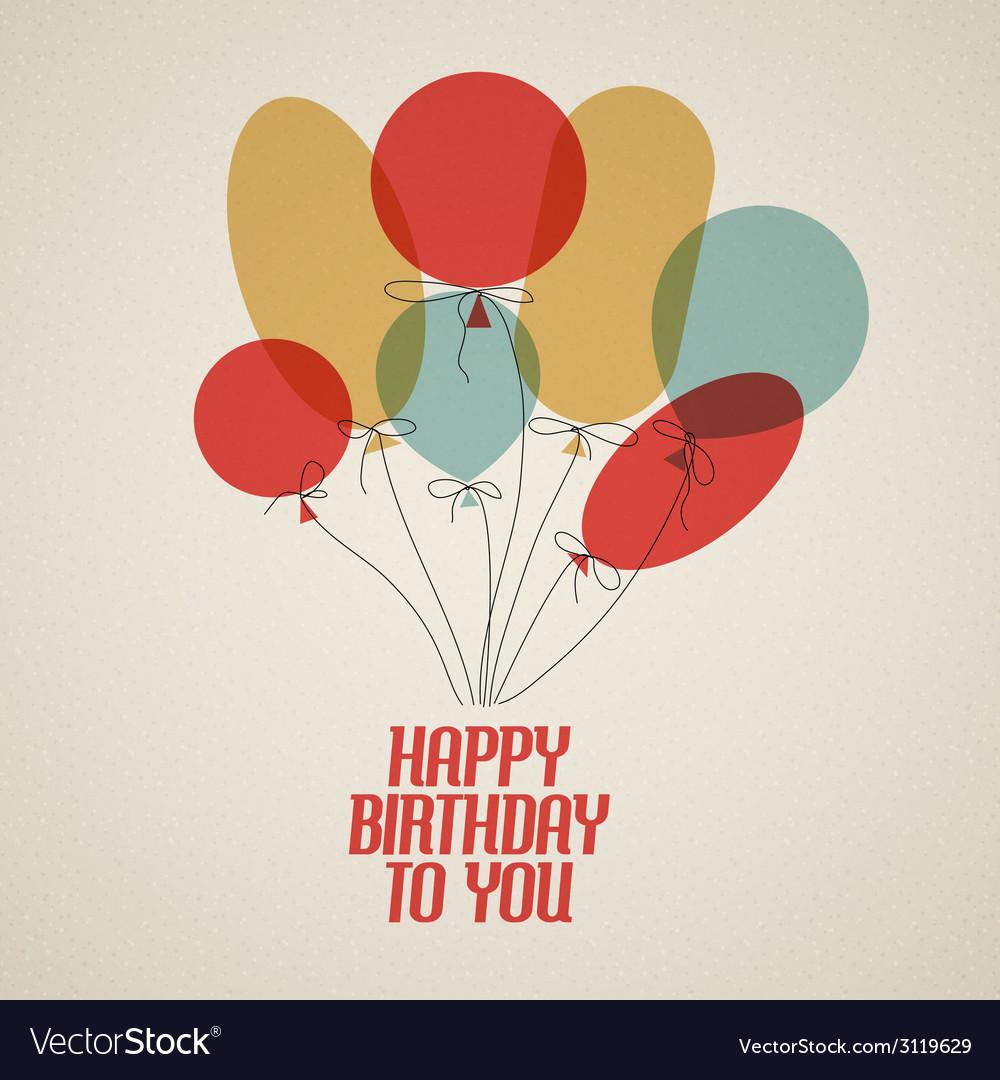 Happy birthday retro vector   Price: 1 Credit (USD $1)