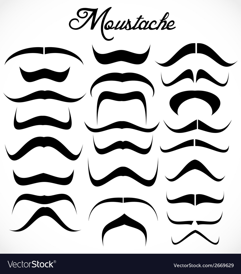 Moustache collection vector | Price: 1 Credit (USD $1)