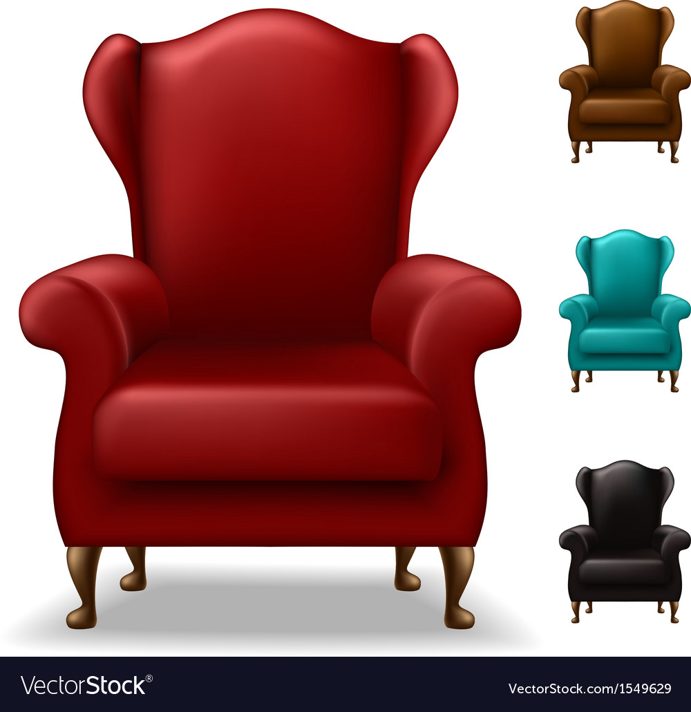 Old armchair set vector | Price: 1 Credit (USD $1)