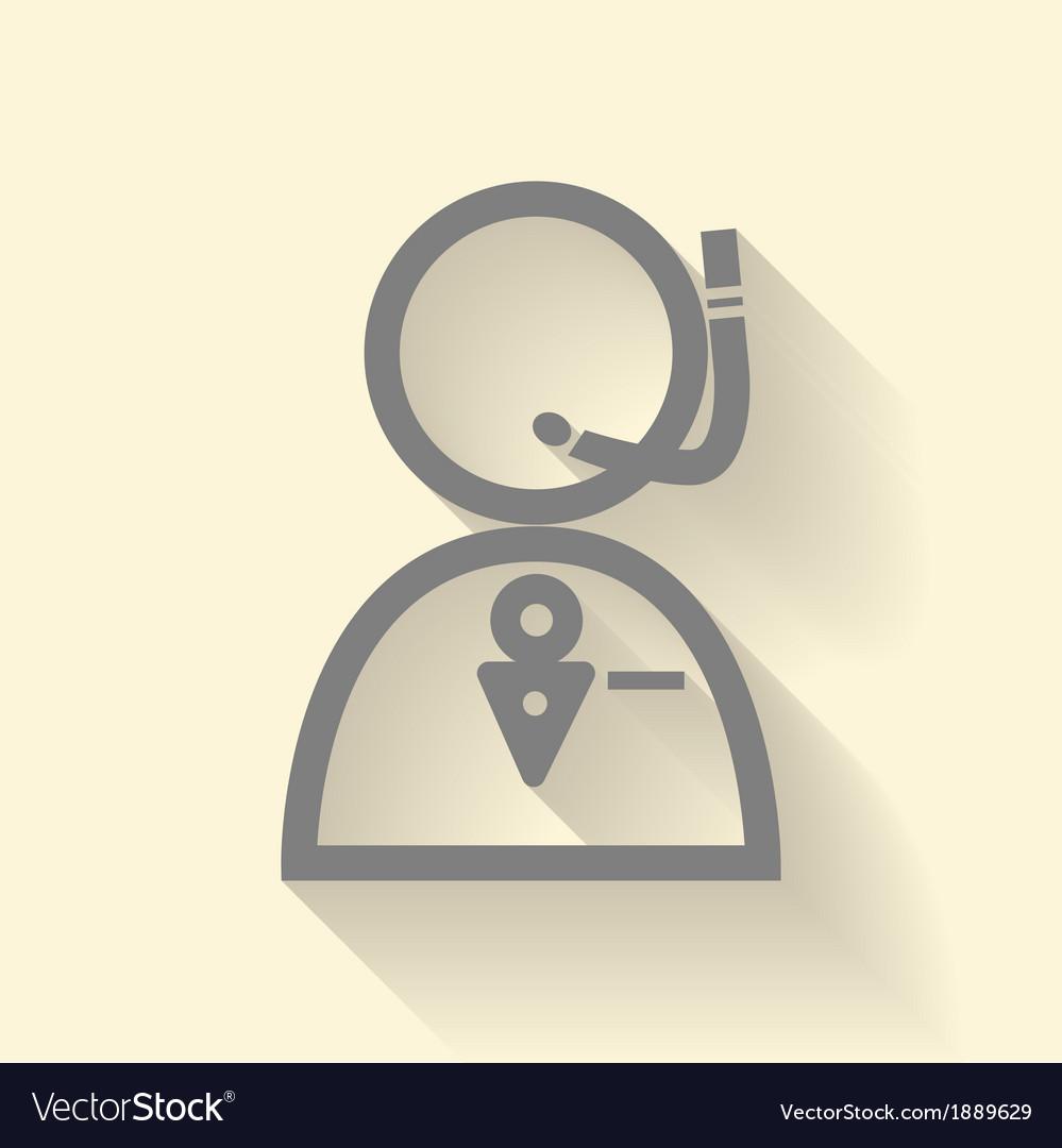 Operator icon vector | Price: 1 Credit (USD $1)
