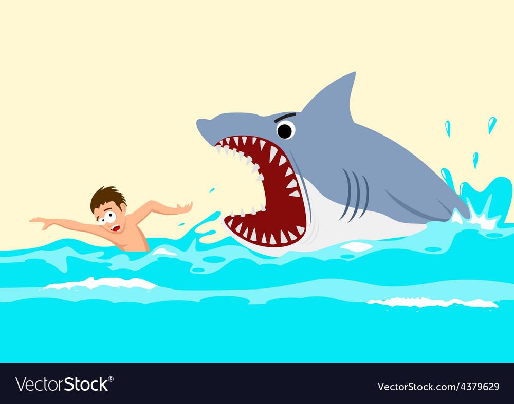 Shark attacks vector | Price: 1 Credit (USD $1)