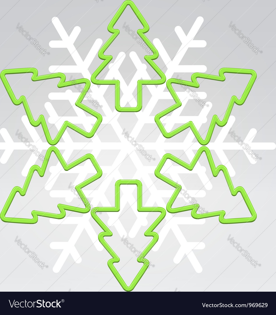 Wire snowflake christmas background vector | Price:  Credit (USD $)