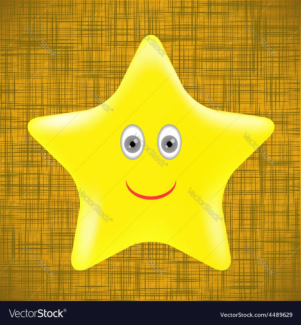 Yellow star vector | Price: 1 Credit (USD $1)