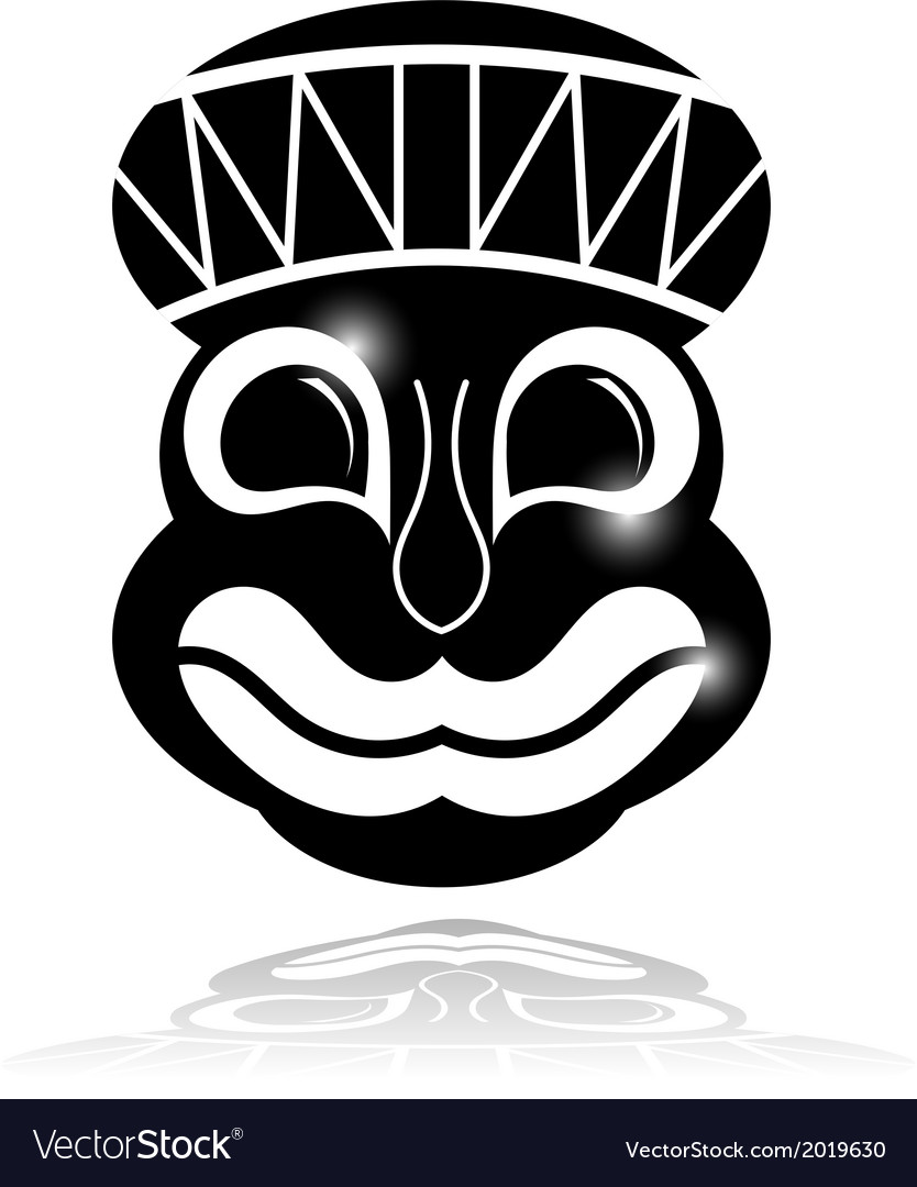 Black ethnic mask with reflection vector | Price: 1 Credit (USD $1)