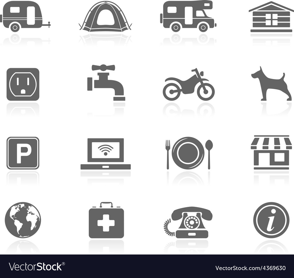 Black icons  camping vector