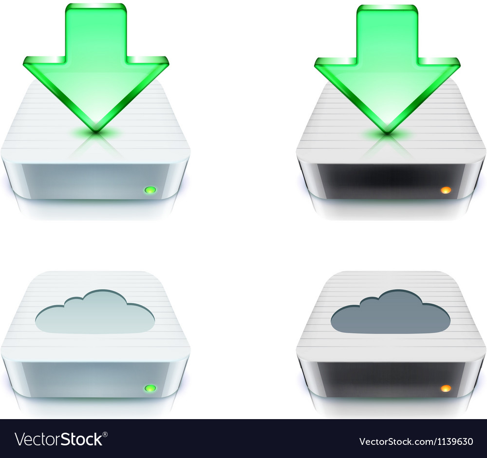 Cloud storage and download concept vector | Price: 1 Credit (USD $1)